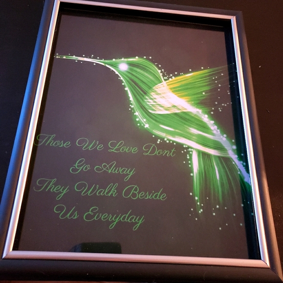 humming bird quote art portrait